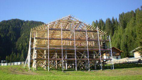 Die Hauskonstruktion in Obertilliach ist bereits fortgeschritten © Kronen Zeitung