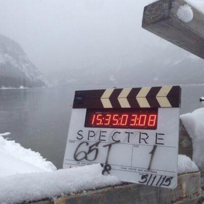 Szene 65T - Das zweite Klappenbild wurde am 5.1.2014 im österreichischen Altaussee aufgenommen. SPECTRE © 2015 Danjaq, LLC, United Artists Coporation, Columbia Pictures Industries Inc. All rights reserved.