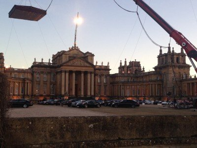 Vor-Ort-Aufnahme am Blenheim Palace für SPECTRE.