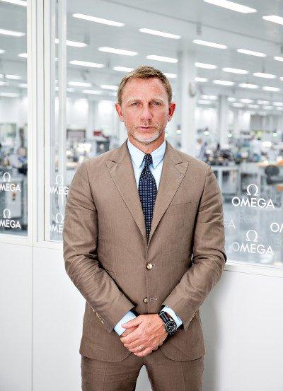 Daniel Craig in der Schweiz bei OMEGA © OMEGA Ltd.