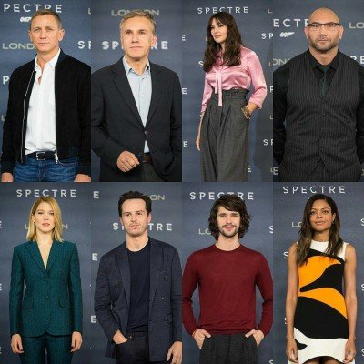 Die Cast von Spectre befindet sich bereits in London für den Start der Promo-Tour rund um die Weltpremiere.