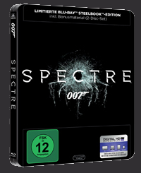Das deutsche SPECTRE-Steelbook-Cover (identisch mit dem UK-Cover) © 20th Century Fox Home Entertainment
