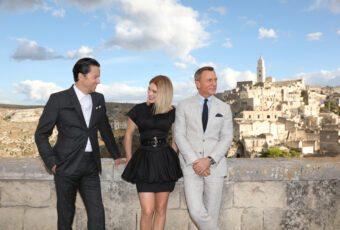Fukunaga, Seydoux und Craig in Matera